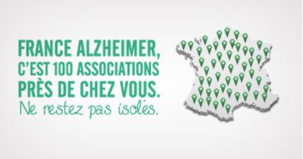 France Alzheimer c'est 100 associations prés de chez vous.Ne restez pas isolés.